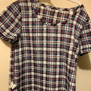 Plaid Gap Blouse xs